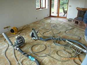 Vysoušení a oprava podlahového topení