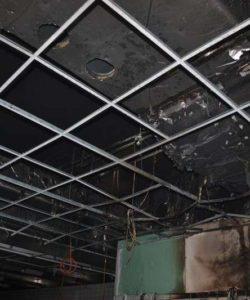 Sanace po požáru hotelu