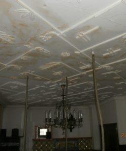 Spuštění prací - odvlhčení stropu