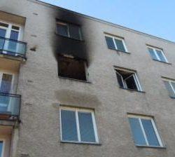 Názorná fotografie vyhořelého bytu v Hradci Králové - aneb prováděné sanace a vysoušení